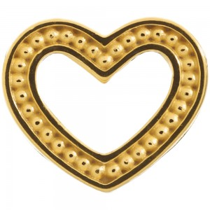 Endless Jewelry Frosty Heart Gold Plated Charm 51301