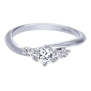 Gabriel 14 Karat Contemporary Engagement Ring ER910172W44JJ