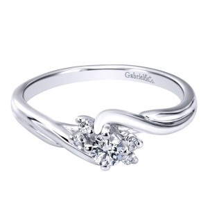 Gabriel 14 Karat Contemporary Engagement Ring ER910938W44JJ