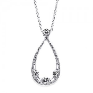 Tacori Diamond Necklace Platinum Fine Jewelry FP605