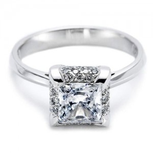 Tacori Platinum Solitaire Engagement Ring 2505PR6