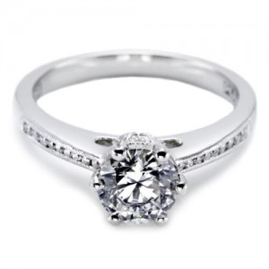 Tacori Platinum Solitaire Engagement Ring 2501RDCH65