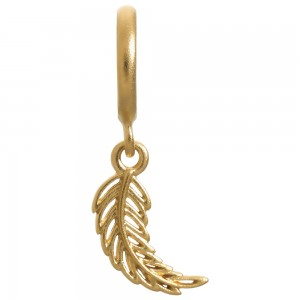Endless Jewelry Feather Gold Plated Charm 53251