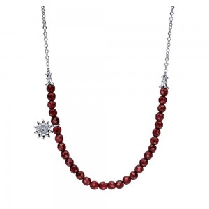 Gabriel Fashion Silver Trends Necklace NK3739SV5GN