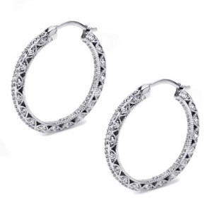 Tacori Diamond Earrings Platinum Fine Jewelry FE596