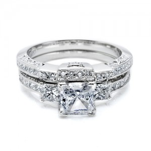 Tacori Platinum Crescent Wedding Band HT2264B