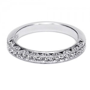 Tacori Platinum Crescent Silhouette Wedding Band HT2259B12