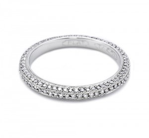 Tacori Platinum Simply Tacori Wedding Band 2522ET