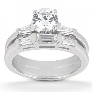 Taryn Collection Platinum Diamond Engagement Ring TQD A-001