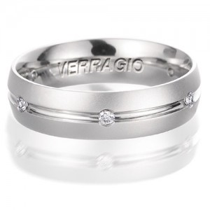 Verragio Platinum Diamond Wedding Band VWD-6903