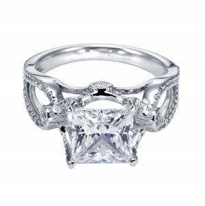 Gabriel 14 Karat Contemporary Engagement Ring ER5379W44JJ