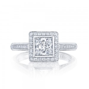 306-25PR55 Platinum Tacori Starlit Engagement Ring