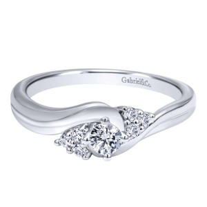 Gabriel 14 Karat Contemporary Engagement Ring ER910939W44JJ
