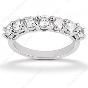 Diamond Seven Stone Band Platinum Taryn Collection TQD B-7572