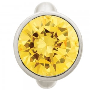Endless Jewelry Round Citrine Dome Sterling Silver Charm 41158-5