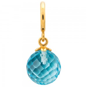 Endless Jewelry Sky Blue Love Drop Gold Plated Charm 53451-2