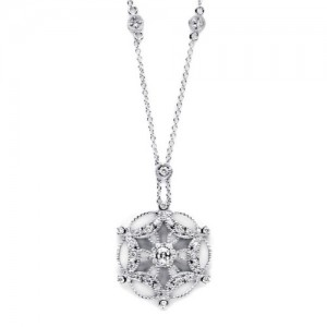 Tacori Diamond Necklace Platinum Fine Jewelry FP666