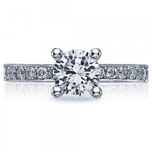 Tacori Crescent Platinum Engagement Ring 41-25RD65