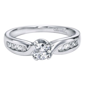 Gabriel 14 Karat Contemporary Engagement Ring ER94352W44JJ