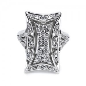 Tacori Diamond Ring Platinum Fine Jewelry FR801