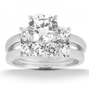 Taryn Collection Platinum Diamond Engagement Ring TQD A-8004