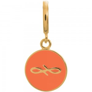 Endless Jewelry Coral Endless Coin Gold Plated Charm 53345-1