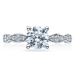 Tacori 46-25RD65 Platinum Sculpted Crescent Engagement Ring