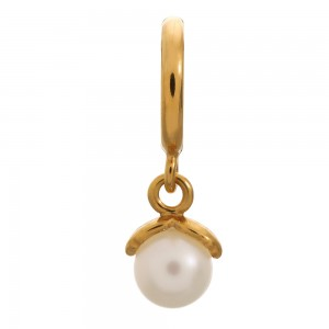 Endless Jewelry White Wish Pearl Gold Plated Charm 53353-1