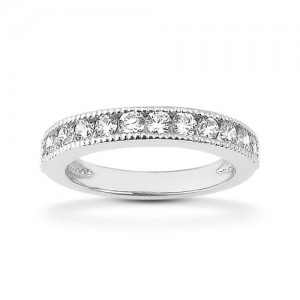 Diamond Channel Set Band 18 Karat Taryn Collection TQD B-4525