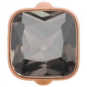 Endless Jewelry Big Smokey Cube Rose Gold Plated Charm 61302-5