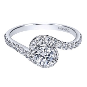 Gabriel 14 Karat Contemporary Engagement Ring ER98510W44JJ