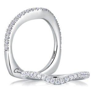 A.JAFFE Signature 14 Karat Diamond Wedding Ring MRS240 / 30