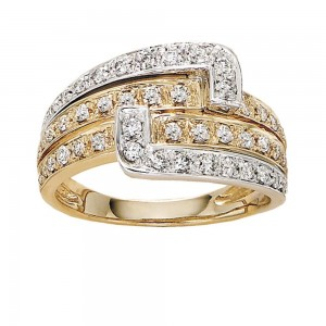 Gabriel Fashion 14 Karat Two-Tone Lusso Diamond Ladies' Ring LR4280M45JJ