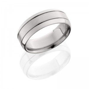 Lashbrook 8B2G SATIN-POLISH Titanium Wedding Ring or Band
