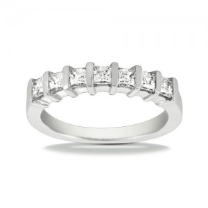 Diamond Seven Stone Band Platinum Taryn Collection TQD B-1672