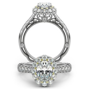 Verragio Venetian-5080OV Platinum Engagement Ring