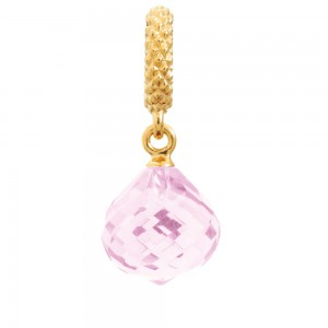 JLo Collection Endless Jewelry Mysterious Drop Gold Plated Rose Crystal Charm 1801-4