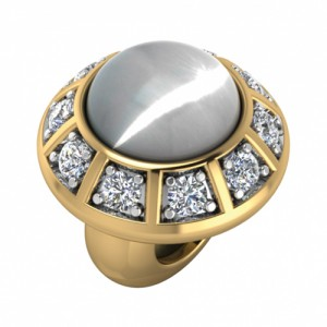 JLo Collection Endless Jewelry White Moon Galaxy 18k Gold Plated Charm 3600-2