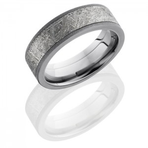 Lashbrook PF7F15-Meteorite Titanium Meteorite Wedding Ring or Band