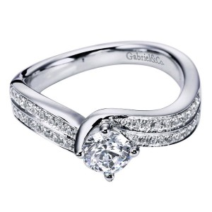 Gabriel 14 Karat Contemporary Engagement Ring ER96294W44JJ