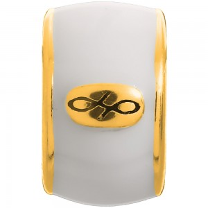Endless Jewelry White Endless Enamel Gold Plated Charm 52100-8