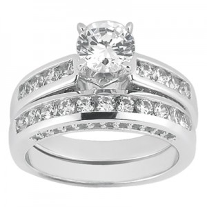 Taryn Collection Platinum Diamond Engagement Ring TQD A-703