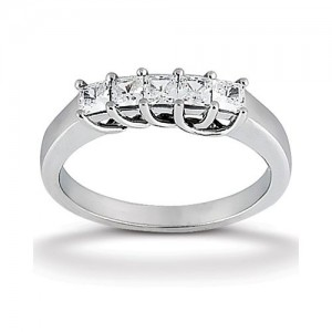 Diamond Five Stone Band Platinum Taryn Collection TQD B-753