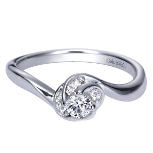 Gabriel 14 Karat Contemporary Engagement Ring ER98707W44JJ