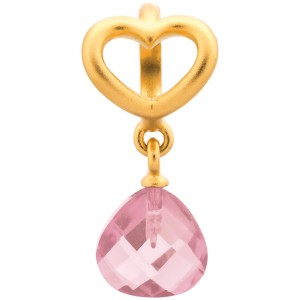 Endless Jewelry Rose Heart Grip Drop Gold Plated Charm 53302-4