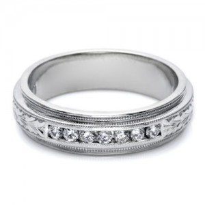 Tacori U5042E 18 Karat Engraved Wedding Band