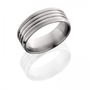 Lashbrook 8B31(NS) SATIN-POLISH Titanium Wedding Ring or Band