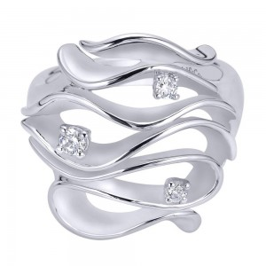 Gabriel Fashion Silver Contemporary Ladies' Ring LR6861SVJWS