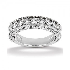 Diamond Antique Band Platinum Taryn Collection TQD B-8005