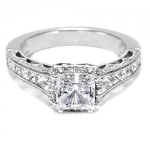 Tacori Crescent Platinum Engagement Ring HT2515PR612X